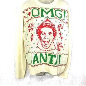 OMG Santa! Elf ugly sweater NWT new Christmas Med